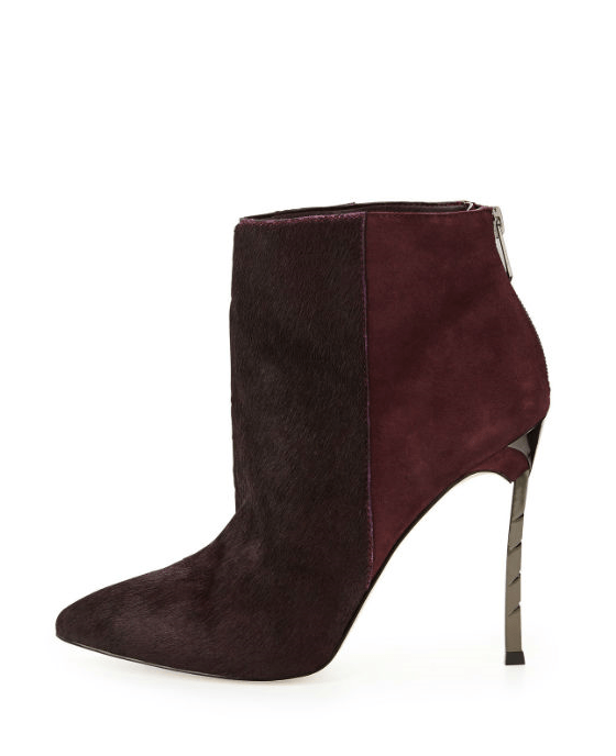 Sam Edelman Sandy Calf Hair Combo Bootie, Burgundy - Fashionbarn shop - 2