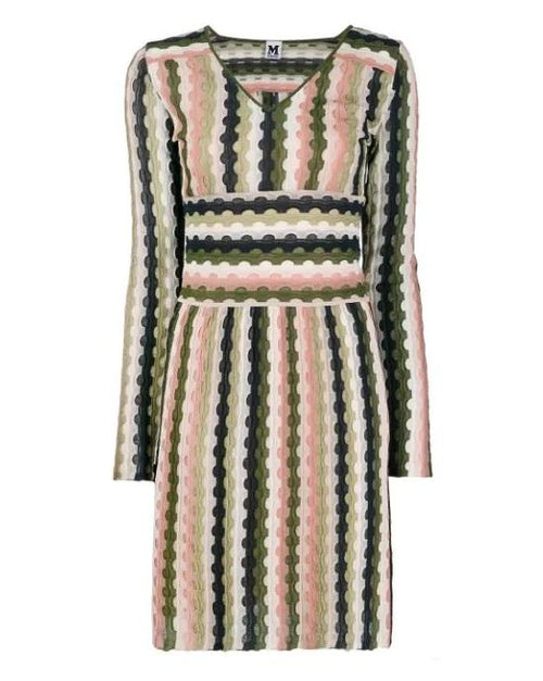 M Missoni Long-Sleeve Mini Dress