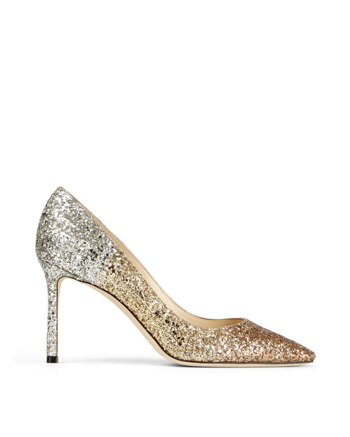 Jimmy Choo ROMY 85 Glitter Dégradé Pointed Pumps