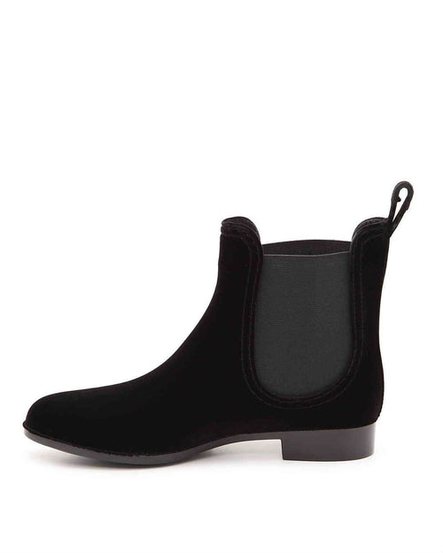 Joie Reagan Water-Resistant Velvet Almond Toe Booties