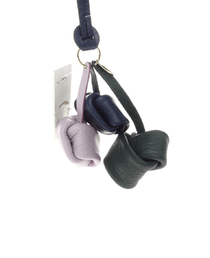 Fossil Knot Leather Bag Charm Midnight Navy - Fashionbarn shop - 2