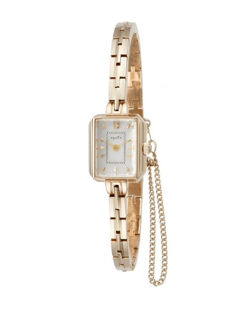 Agete Square Face Jewelry Watch [AGETE 15YG2 Watch]