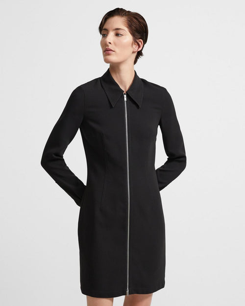 Theory Zip Shirtdress In Crepe
