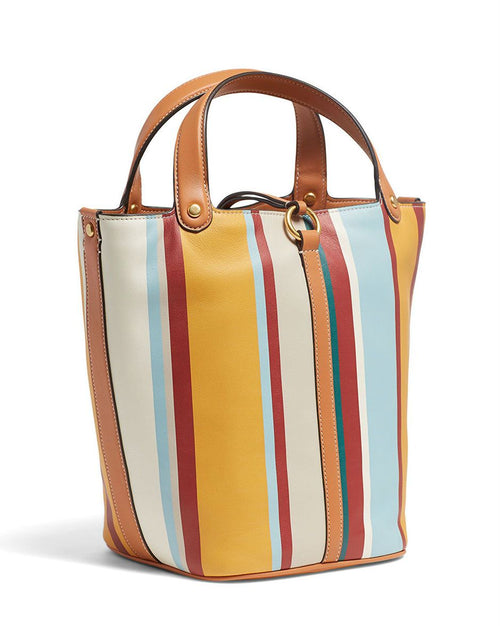 Tory Burch Miller Striped Bucket Bag