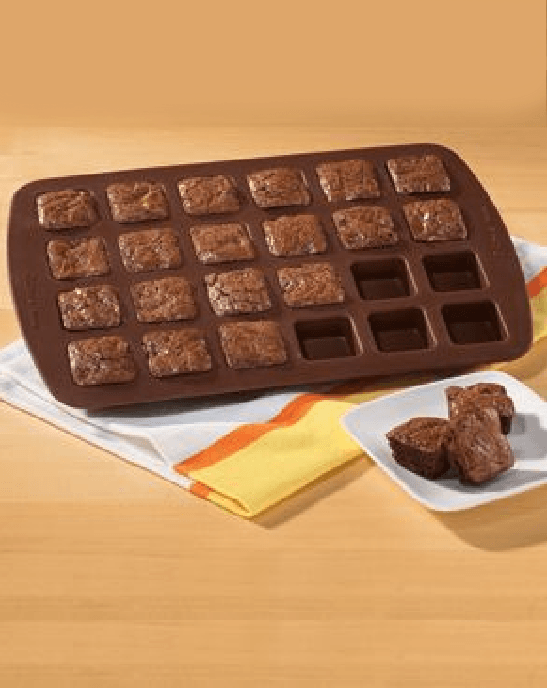 Wilton 24-Cavity Brownie Pops Silicone Mold-WILTON-Fashionbarn shop