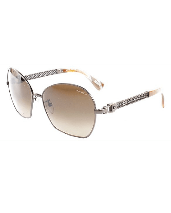 LANVIN 024 0Smq Brown Horn Sunglasses