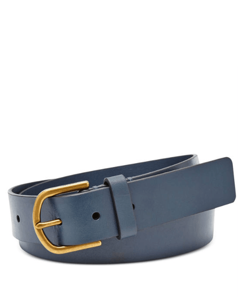 Fossil 'Modern C Buckle' Leather Belt - Fashionbarn shop