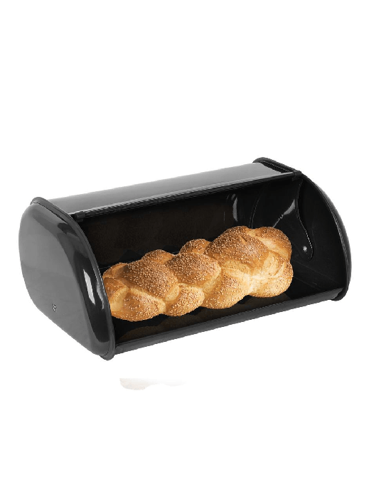 Home Basics Stainless Steel Bread Box, Black
