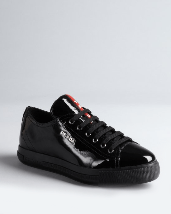 Prada Sport Patent Low-Top Sneakers