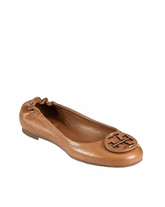 Tory Burch Reva Tumbled Leather Ballet Flats