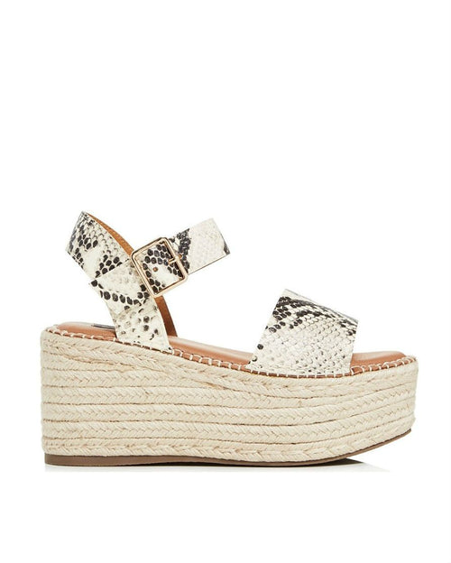AQUA Women's Rowan Leather Espadrille Platform Sandals