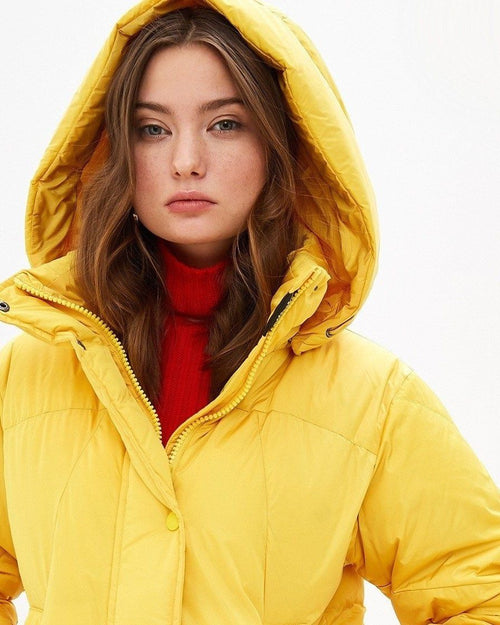 Max Mara Weekend Filo Quilted Jacket In Yellow