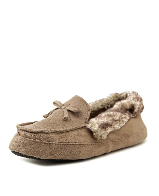 Isotoner Signature Woodlands Microsuede Tundra Mo Slippers - Fashionbarn shop - 3
