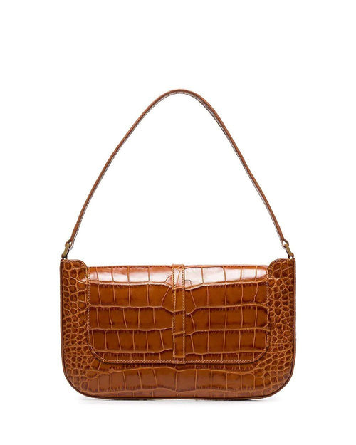 By Far Miranda Crocodile Effect Shoulder Bag