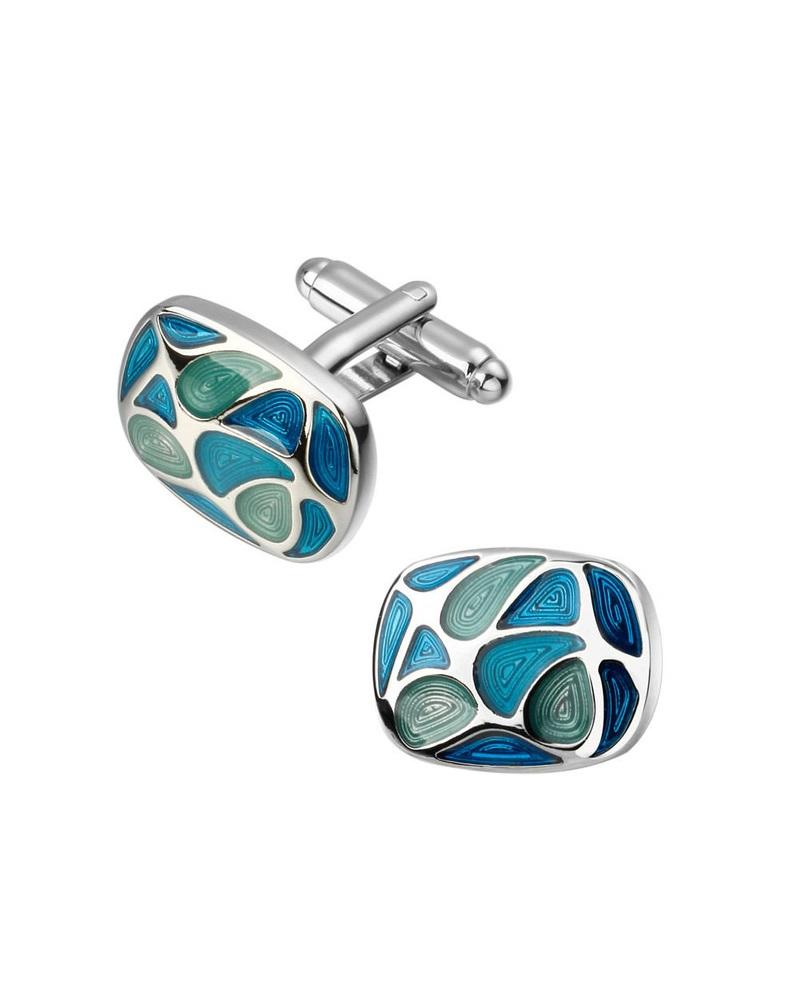 Steffe Men's Enamel & Crystal Cufflinks