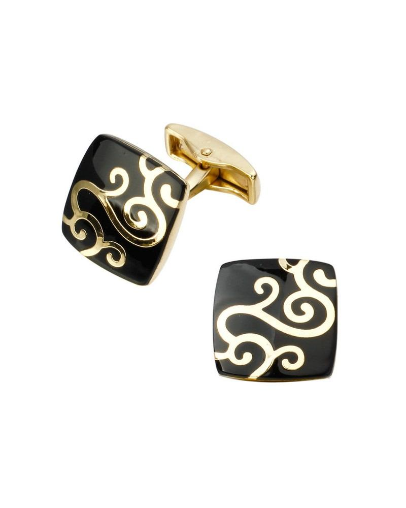 Steffe Men's Classic Chain Square Cufflinks