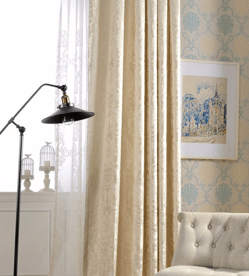 Simba Deco Luxury Jacquard Blind Drapes Window Panel