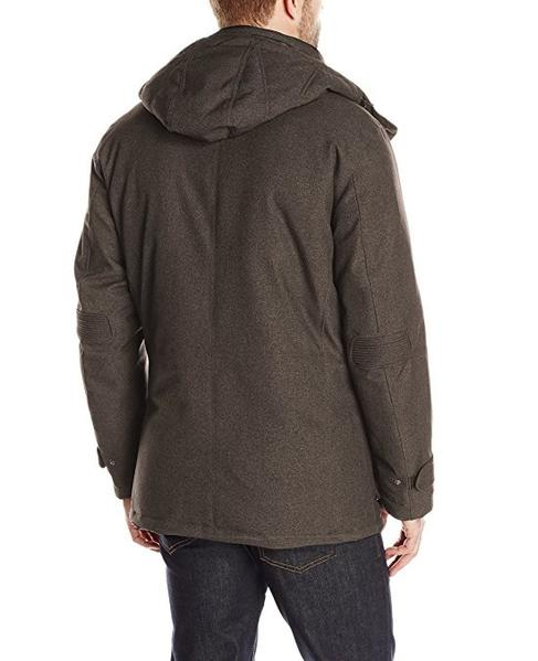 RAINFOREST Men's Parka with Removable Hood