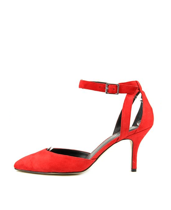 Marc Fisher Hien Ankle Strap Pumps Red Suede - Fashionbarn shop - 2