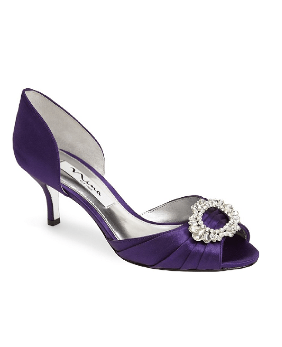 Nina 'Crystah' Embellished Satin Pump - Fashionbarn shop - 1