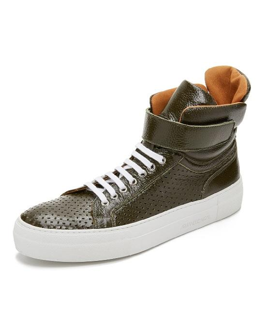 Armando Cabral Mercer Leather High Top Sneakers