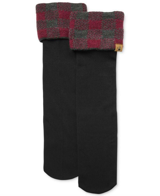 Bearpaw® Buffalo Plaid Cable Knit Rain Boot Liners - Fashionbarn shop - 1