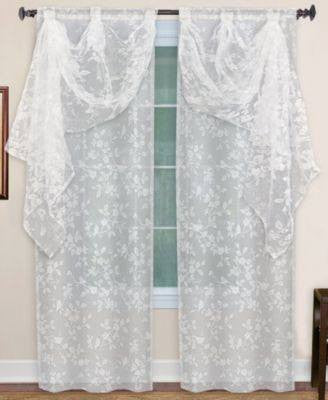 SINGLE VALANCE INSER IVORY-ELRENE HOME-Fashionbarn shop