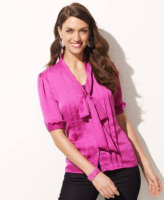 ELEMENTZ BLOUSE, SHORT-SLEEVE BUTTON-DO PINK DELIGHT XL-ELEMENTZ-Fashionbarn shop