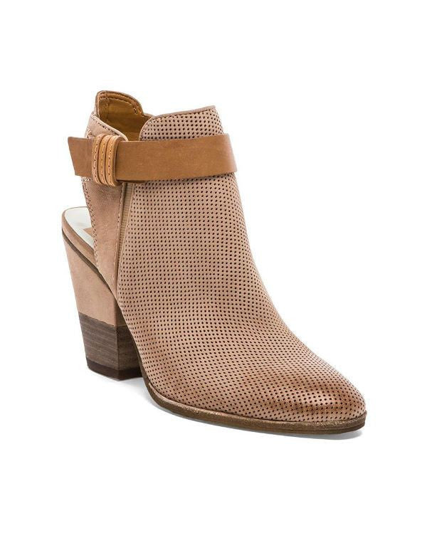 DOLCE VITATaupe Leather 'Henna' Cutout Accent Booties-DOLCE VITA-Fashionbarn shop