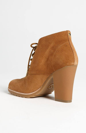 MICHAEL Michael Kors Brown Elliott Bootie-MICHAEL MICHAEL KORS-Fashionbarn shop