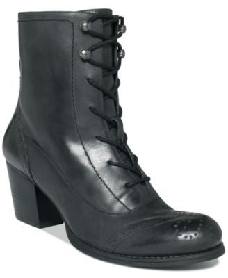 NINE WEST COASTGUARD LACE UP BOOTIES BLACK 10M-NINE WEST-Fashionbarn shop