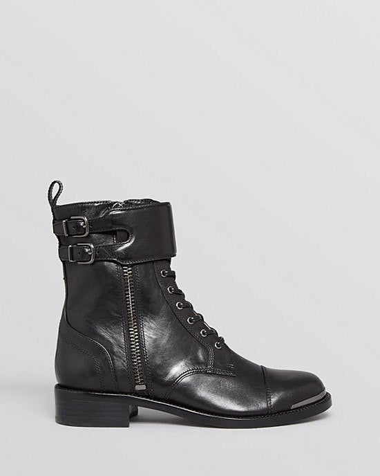 Via Spiga Flat Lace Up Combat Booties - Bindu-VIA SPIGA-Fashionbarn shop