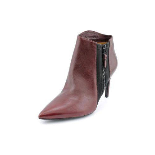 VIA SPIGA Ibis Pointed Toe Burgundy Leather Ankle BootIes-VIA SPIGA-Fashionbarn shop