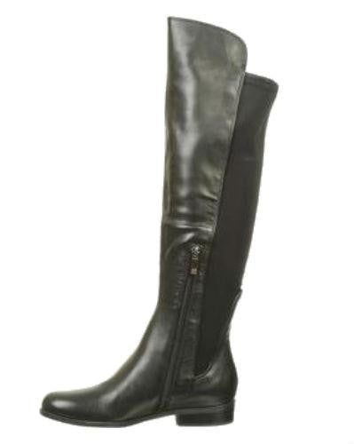 Anne Klein Women's Citygurl Leather Riding Boots-ANNE KLEIN-Fashionbarn shop