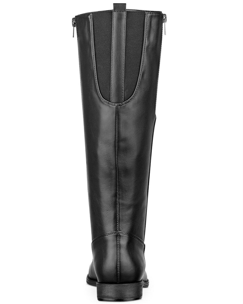 Pink & Pepper Zip It Tall Shaft Wide Calf Boots-PINK AND PEPPER-Fashionbarn shop