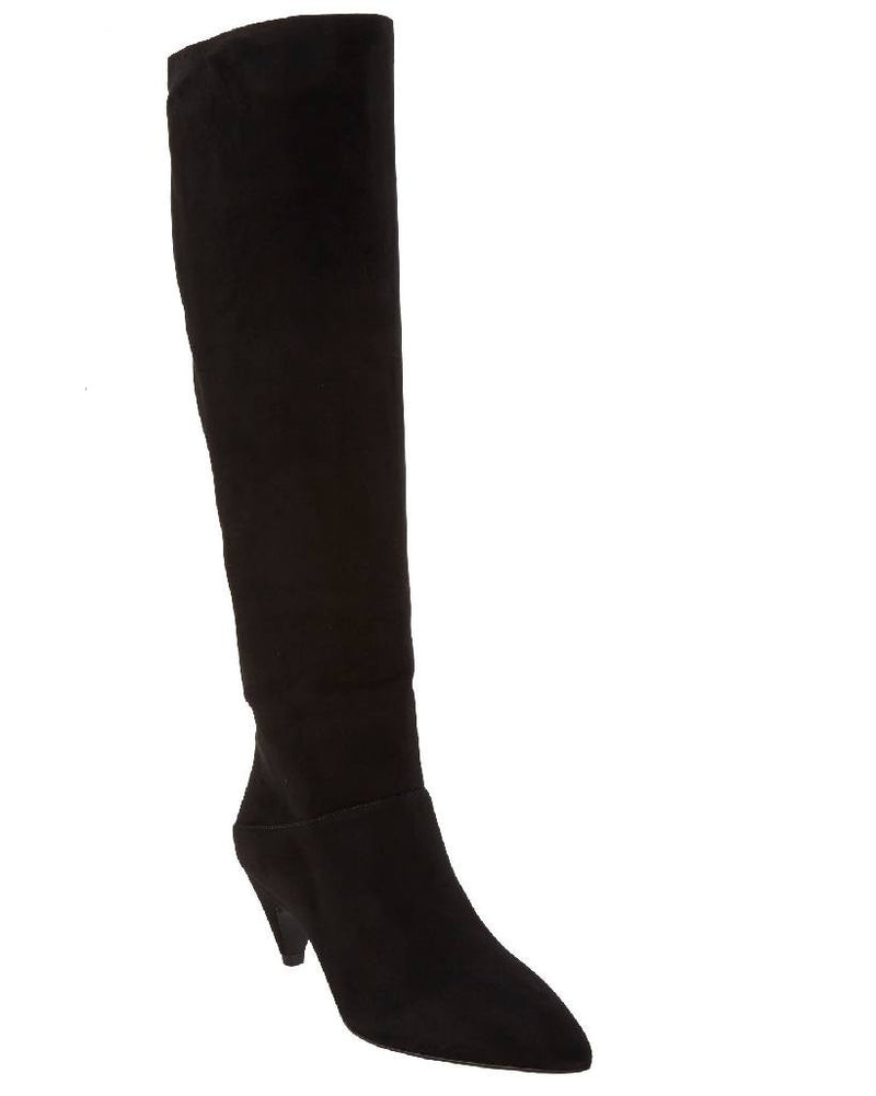 PRADA Suede Point-Toe Knee Boots-PRADA-Fashionbarn shop