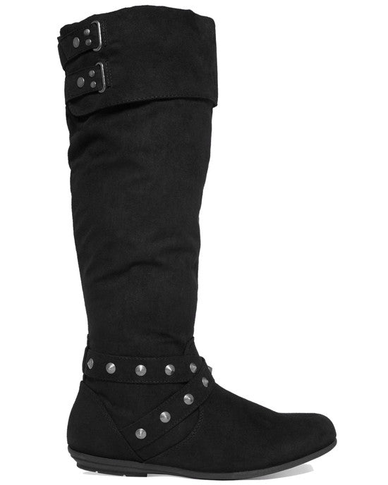 Rampage Batari Tall Shaft Boots-RAMPAGE-Fashionbarn shop