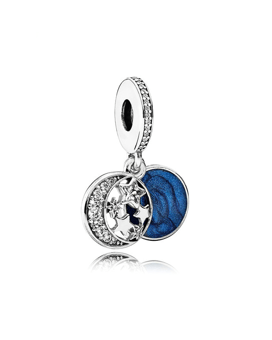 Steffe Sterling Silver & Cubic Zirconia Blue Retro Night Sky Charms