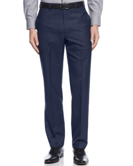 Calvin Klein Slim-Fit Solid Dress Pants-CALVIN KLEIN-Fashionbarn shop