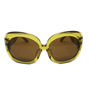 Linda Farrow Row42C3 Sunglasses Ochre Yellow