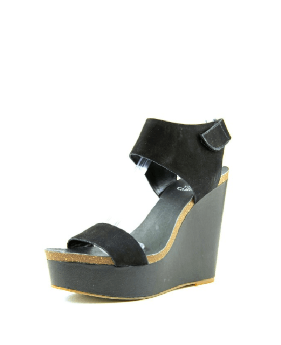 Vince Camuto Kaja Platform Wedge Sandals Black - Fashionbarn shop - 1