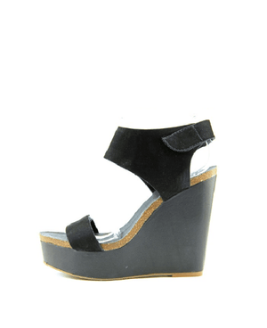 Vince Camuto Kaja Platform Wedge Sandals Black - Fashionbarn shop - 2