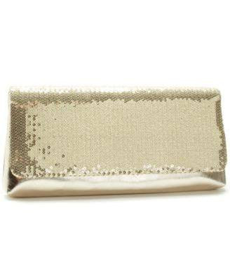 La Regale Metallic Satin Flap Clutch-PAN OCEANIC-Fashionbarn shop
