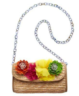 BRASIL STRAW CLUTCH FUSCIA STRAW-BETSEY JOHNSON-Fashionbarn shop