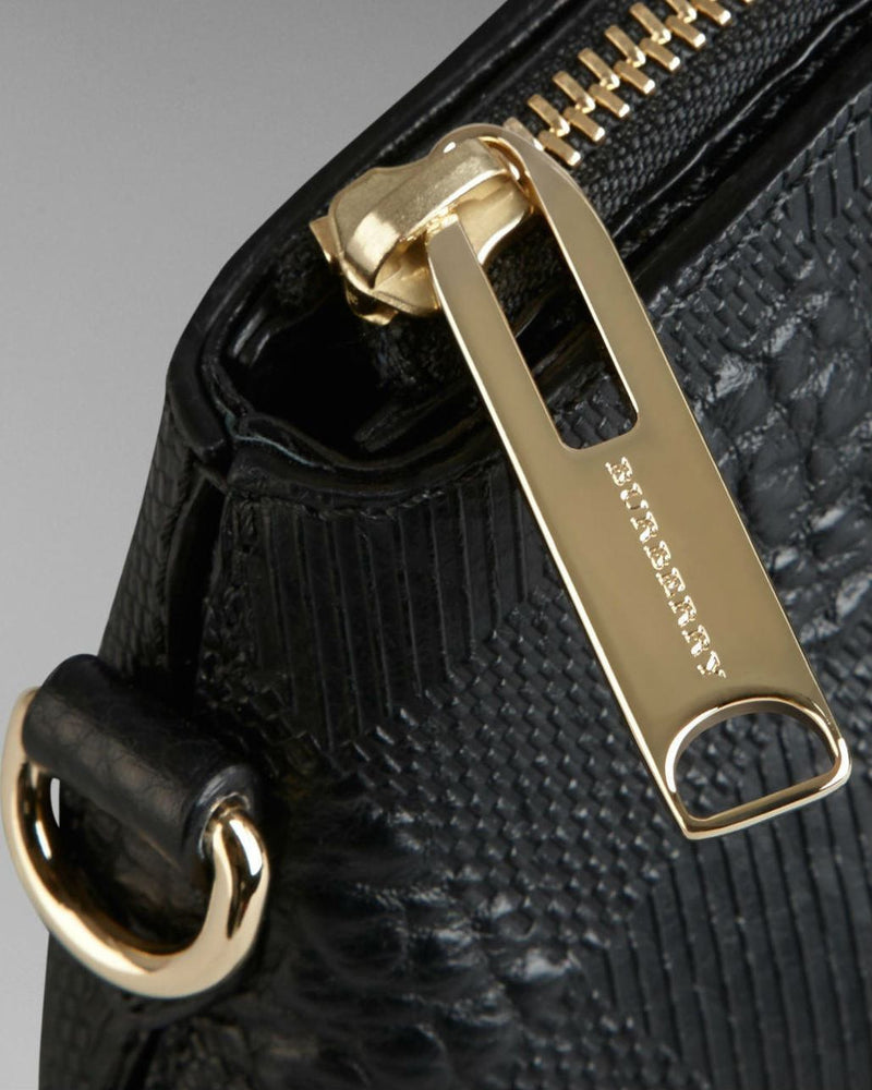 BURBERRY SMALL EMBOSSED CHECK LEATHER CLUTCH BAG-BURBERRY-Fashionbarn shop