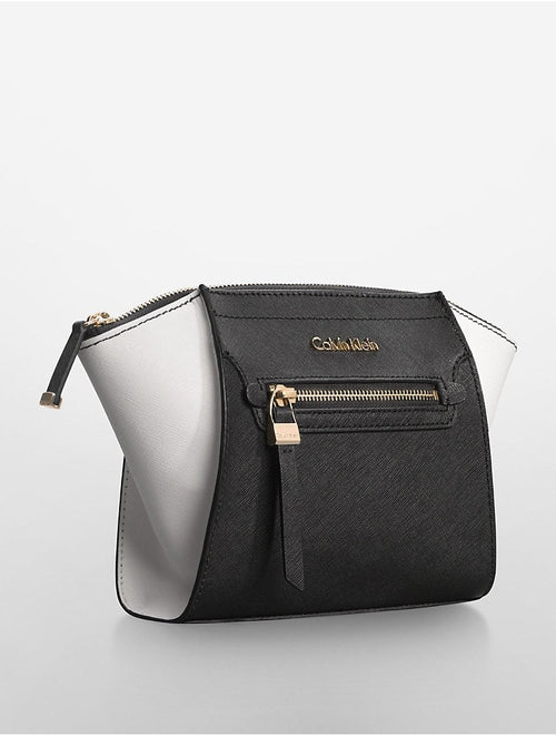 Calvin Klein saffiano leather clutch-CALVIN KLEIN-Fashionbarn shop