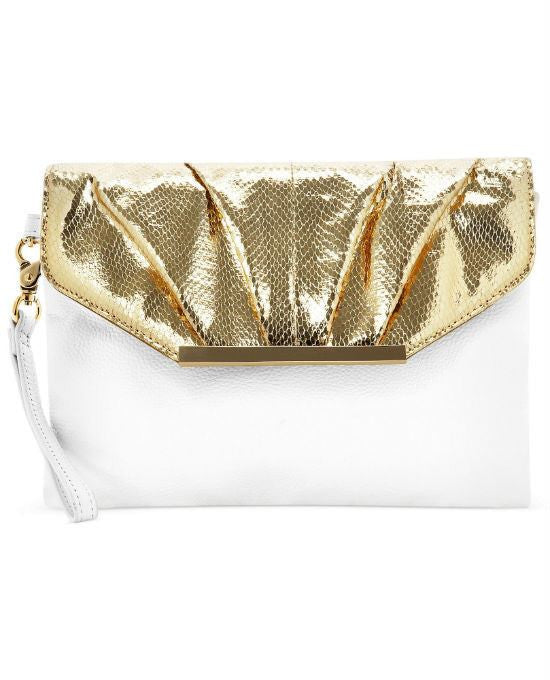 I.N.C. Corrina Leather Snake Clutch-INC-Fashionbarn shop