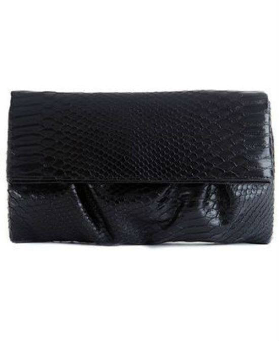 Style&co. Tabitha Python Large Foldover Clutch-STYLE & CO-Fashionbarn shop