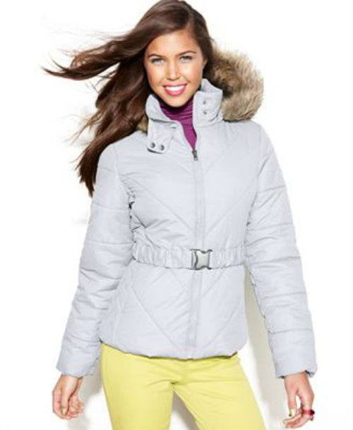 Krush Juniors Hooded Faux-Fur-Trim Belted Puffer Coat-HAWKE & CO-Fashionbarn shop