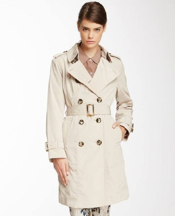 London Fog Double-Breasted Belted Trench Coat-LONDON FOG-Fashionbarn shop